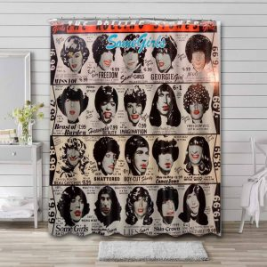 The Rolling Stones Some Girls Waterproof Bathroom Shower Curtain