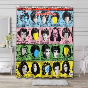 The Rolling Stones Some Girls Bathroom Curtain Shower Waterproof