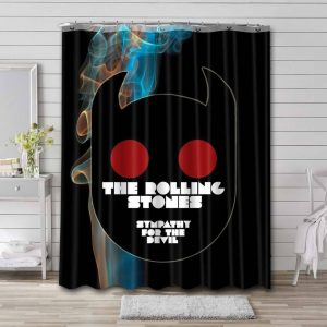 The Rolling Sympathy For The Devil Stones Shower Curtain Waterproof Polyester