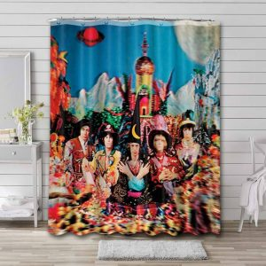 The Rolling Stones Their Satanic Majesties Request Waterproof Shower Curtain Bathroom