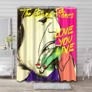 The Rolling Stones Love You Live Shower Curtain Waterproof Polyester