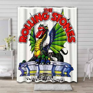 The Rolling Stones Dragon Tour Waterproof Bathroom Shower Curtain