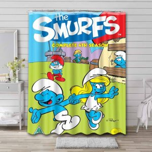 The Smurfs Shower Curtain Waterproof Polyester