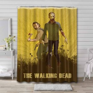 The Walking Dead Shower Curtain Waterproof Polyester Fabric