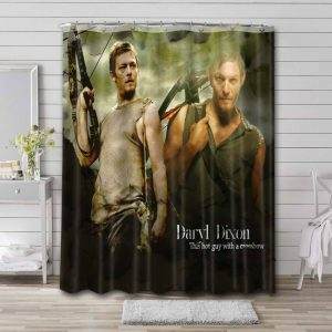 The Walking Dead Daryl Dixon Shower Curtain Waterproof Polyester Fabric