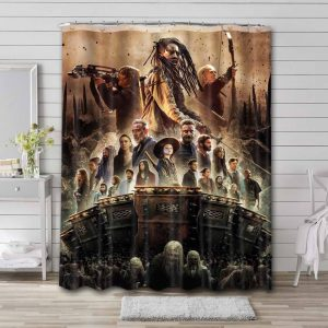 The Walking Dead Characters Shower Curtain Bathroom Decoration