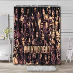 The Walking Dead Characters Shower Curtain Waterproof Polyester Fabric