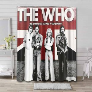 The Who Rock Band Waterproof Curtain Bathroom Shower