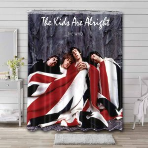 The Who The Kids Are Alright Bathroom Shower Curtain Waterproof