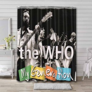 The Who My Generation Waterproof Shower Curtain Bathroom