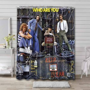 The Who Are You Shower Curtain Bathroom Waterproof