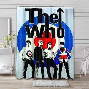 The Who Band Logo Shower Curtain Waterproof Polyester
