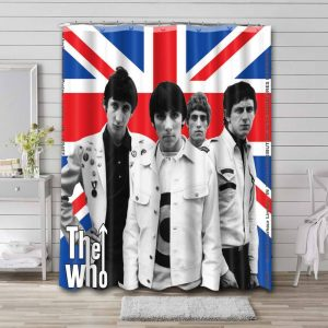 The Who Shower Curtain Bathroom Decoration Waterproof Polyester Fabric.