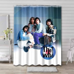 The Who Rock Band Waterproof Bathroom Shower Curtain