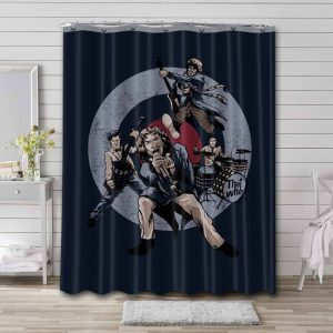 The Who Rock Band Bathroom Curtain Shower Waterproof