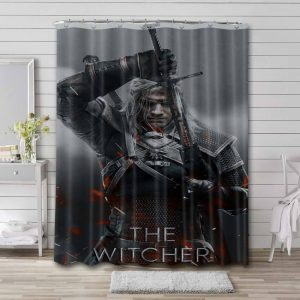 The Witcher Show Waterproof Bathroom Shower Curtain