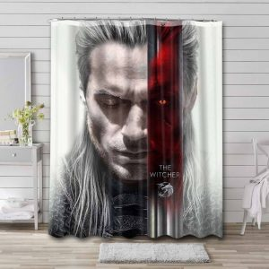 The Witcher Bathroom Curtain Shower Waterproof Fabric