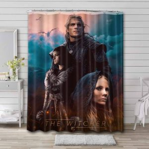 The Witcher Waterproof Curtain Bathroom Shower