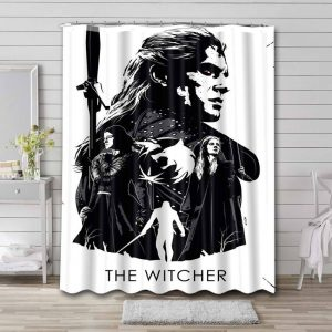 The Witcher Shower Curtain Bathroom Waterproof