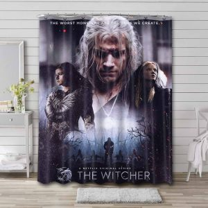 The Witcher Shower Curtain Bathroom Decoration
