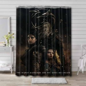 The Witcher Shower Curtain Waterproof Polyester Fabric
