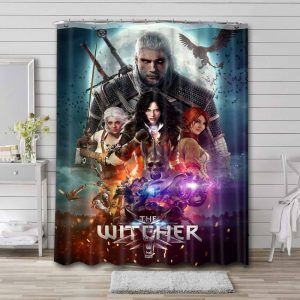 The Witcher Waterproof Bathroom Shower Curtain