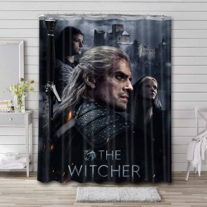 The Witcher Series Waterproof Bathroom Shower Curtain