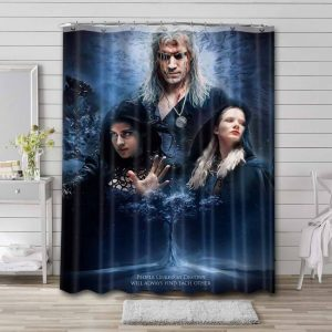 The Witcher Series Waterproof Curtain Bathroom Shower