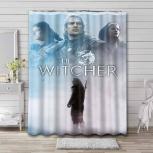 The Witcher Series Shower Curtain Bathroom Waterproof