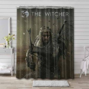 The Witcher Series Shower Curtain Waterproof Polyester Fabric