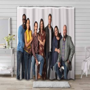 This Is Us Shower Curtain Waterproof Polyester Fabric