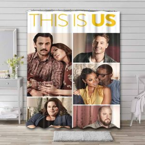This Is Us TV Series Shower Curtain Waterproof Polyester Fabric