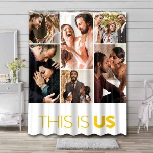 This Is Us Shower Curtain Bathroom Decoration Waterproof Polyester Fabric.