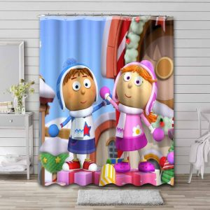 Tickety Toc Shower Curtain Waterproof Polyester