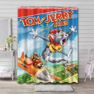 Tom and Jerry Tales Waterproof Curtain Bathroom Shower