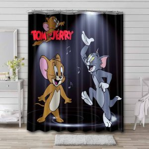 Tom and Jerry Waterproof Shower Curtain Bathroom