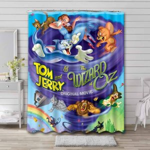 Tom and Jerry Wizard Of Oz Shower Curtain Bathroom Decoration