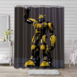 Transformers Bumblebee Shower Curtain Waterproof Polyester