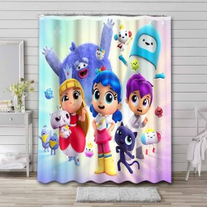 True and the Rainbow Kingdom Characters Shower Curtain Waterproof Polyester