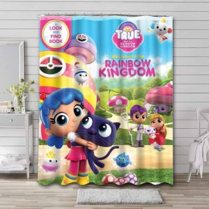 True and the Rainbow Kingdom Kids Shower Curtain Waterproof Polyester