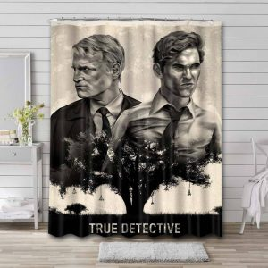 True Detective TV Series Shower Curtain Waterproof Polyester Fabric