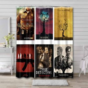 True Detective Shower Curtain Waterproof Polyester Fabric