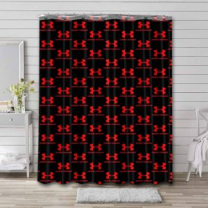 Under Armour Patterns Shower Curtain Waterproof Polyester