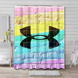 Under Armour Shower Curtain Bathroom Decoration Waterproof Polyester Fabric.