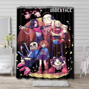 Undertale All Characters Shower Curtain Bathroom Decoration