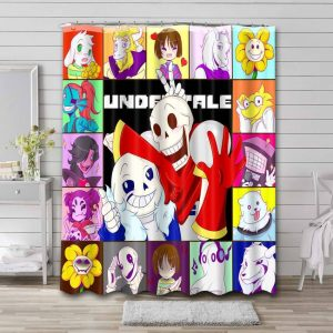 Undertale Characters Shower Curtain Waterproof Polyester