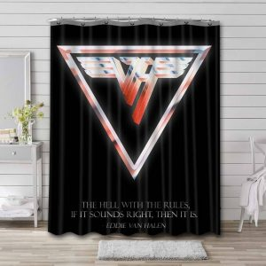 Van Halen The hell with the rules Bathroom Shower Curtain Waterproof