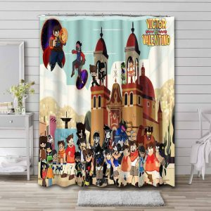 Victor and Valentino Shower Curtain Waterproof Polyester