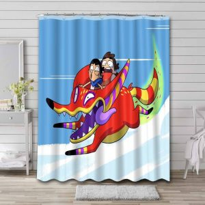 Victor and Valentino Bathroom Shower Curtain Waterproof