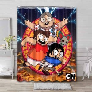 Victor and Valentino Waterproof Shower Curtain Bathroom